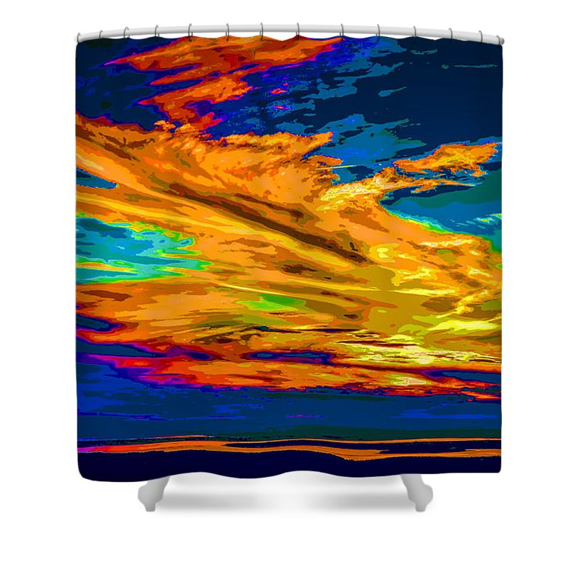 Sky Shower Curtain featuring the photograph Twilight Of The Day by John M Bailey