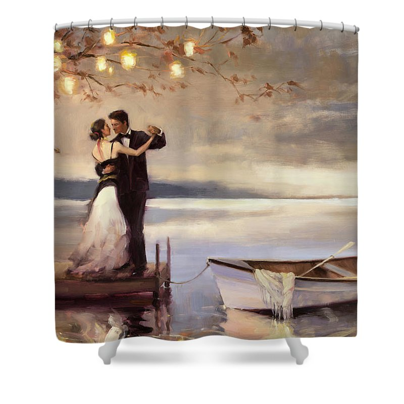 Romantic Shower Curtain Featuring The Painting Twilight Romance By Steve Henderson