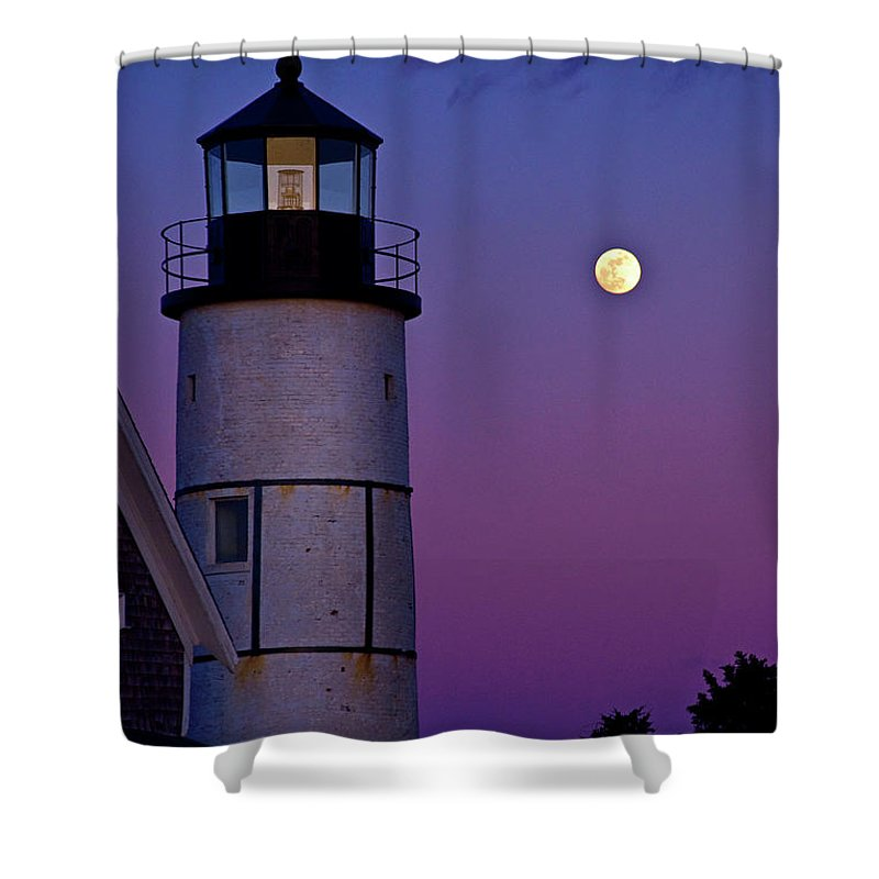 Twilight Shower Curtain featuring the photograph Twilight Sandy Neck by Charles Harden