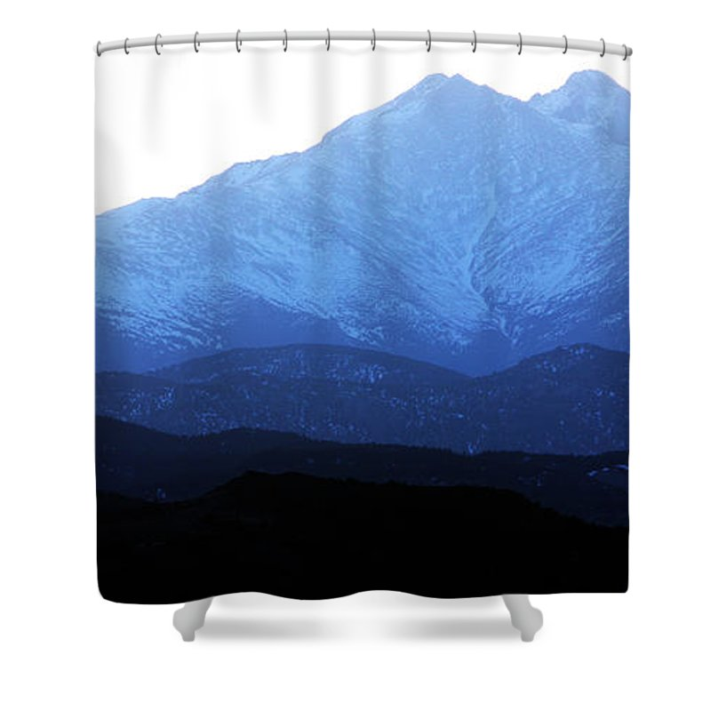 Twin Peaks Shower Curtain featuring the photograph Twin Peaks Blues by James BO Insogna