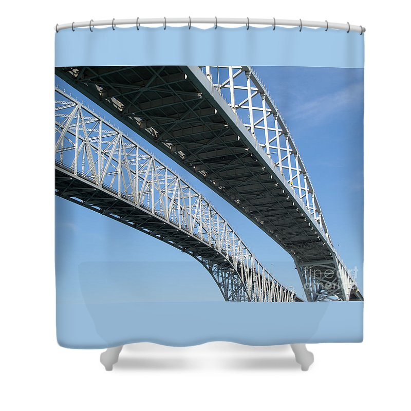 Ann Horn Shower Curtain featuring the photograph Twin Spans by Ann Horn