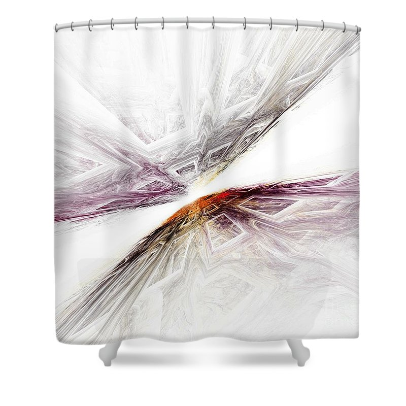 911 Shower Curtain featuring the digital art Twin Towers Remembered by Claire Bull