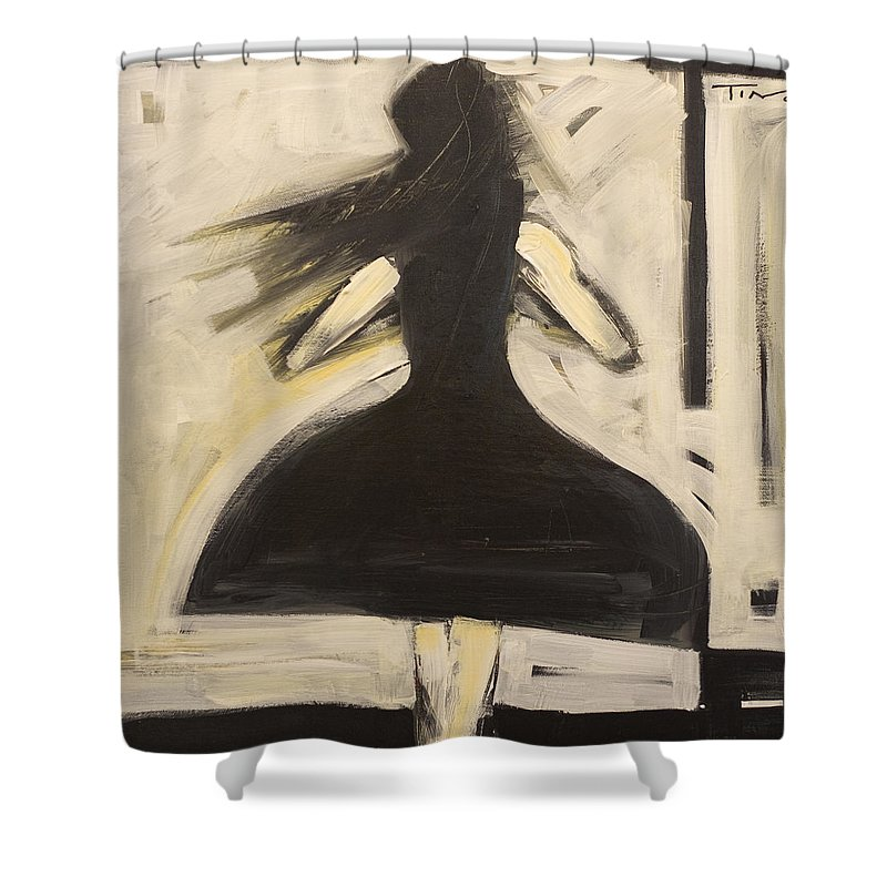 Twirl Shower Curtain featuring the painting Twirling by Tim Nyberg