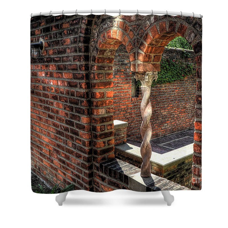 Cranbrook Shower Curtain featuring the photograph Twisted Concrete by Chris Fleming