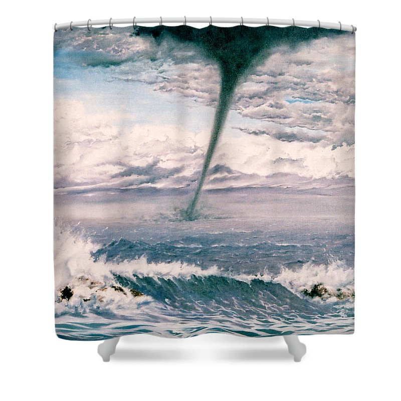 Seascape Shower Curtain featuring the painting Twisted Nature by Mark Cawood