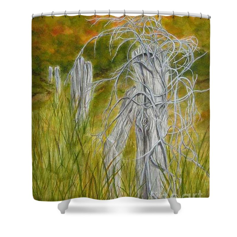 Landscape Shower Curtain featuring the painting Twisted by Regan J Smith