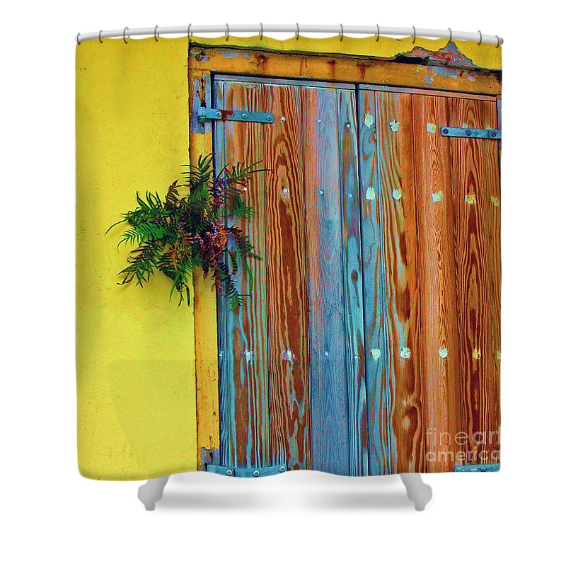 Door Shower Curtain featuring the photograph Twisted Root by Debbi Granruth