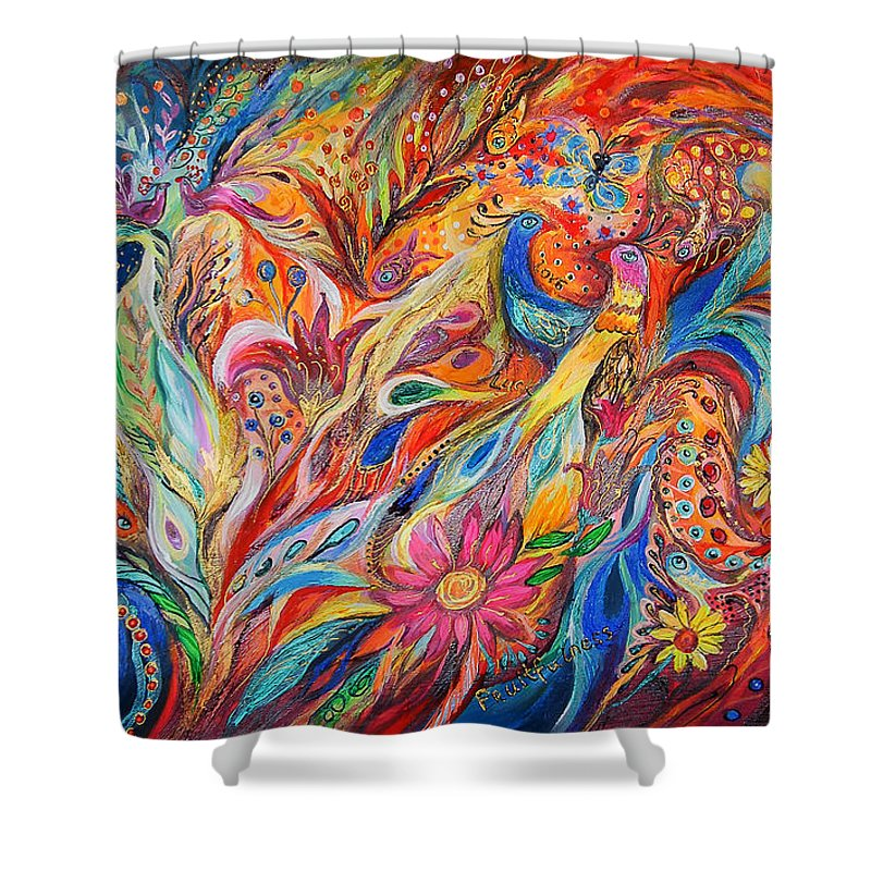 Original Shower Curtain featuring the painting Two Couples by Elena Kotliarker