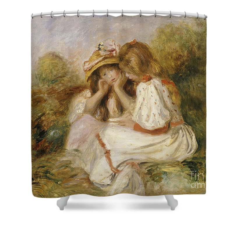 Two Girls Shower Curtain For Sale By Pierre Auguste Renoir