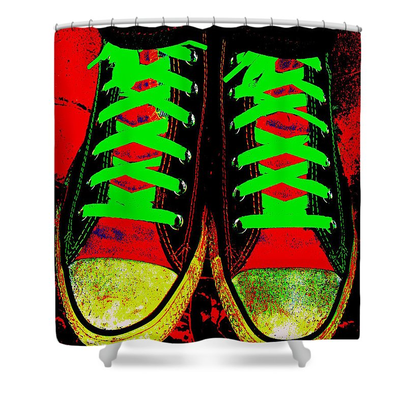 Still Life Shower Curtain featuring the photograph Two Left Feet by Ed Smith