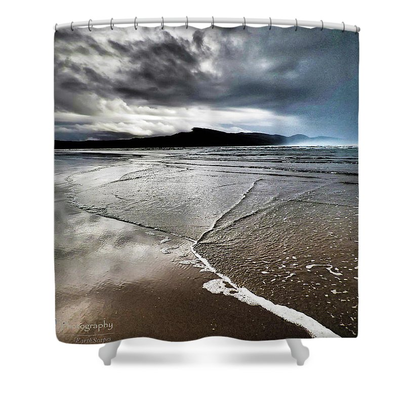 Beach Shower Curtain featuring the photograph Two Skies by Stephanie McGuire