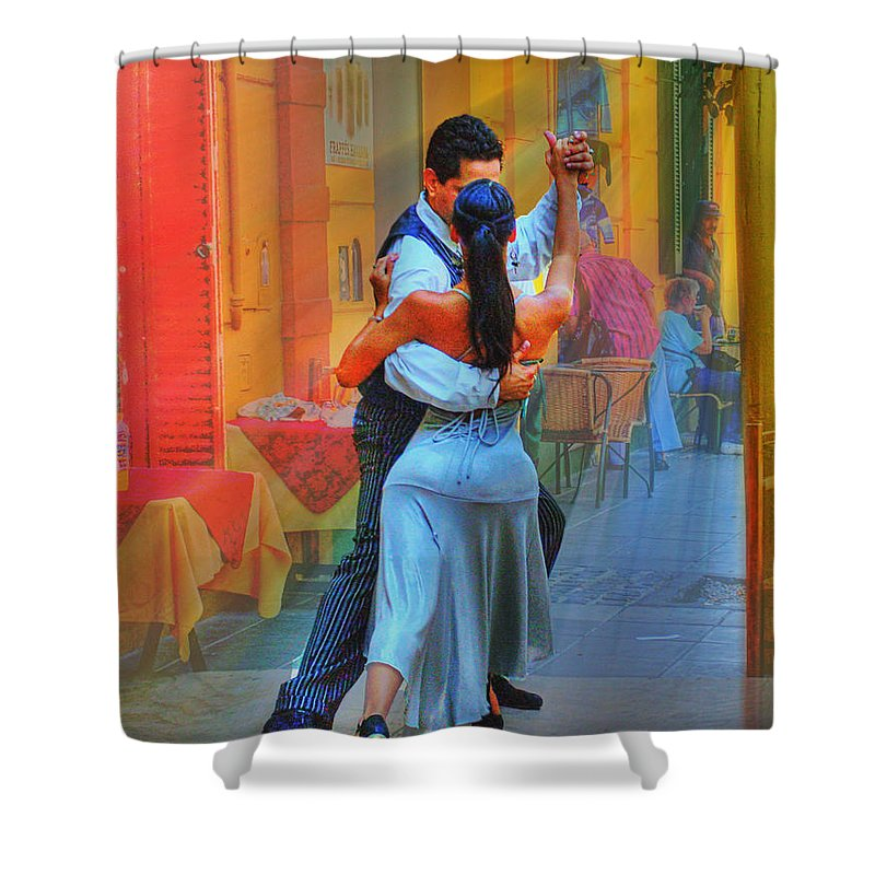 Dance Shower Curtain featuring the photograph Two Tango by Francisco Colon