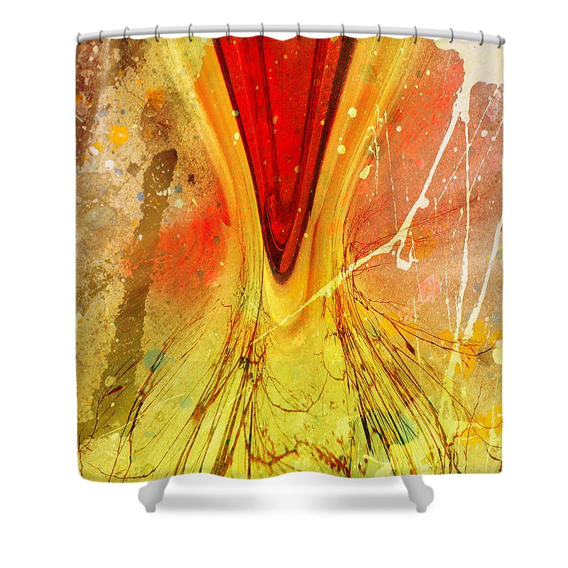 Art Shower Curtain featuring the digital art Two Trees by Tara Turner