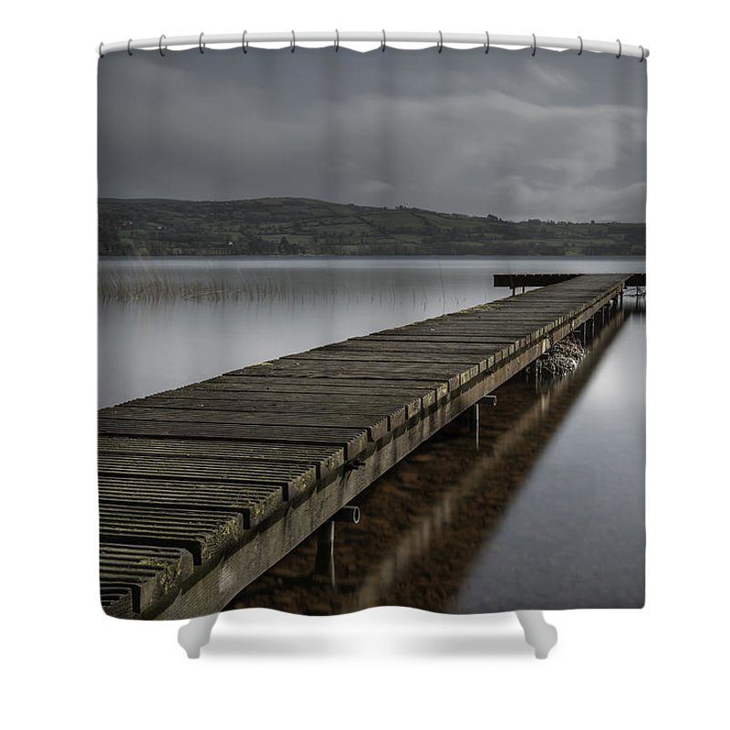 Clare Shower Curtain featuring the photograph Twomilegate 28-2-2012 2 by John Holmes