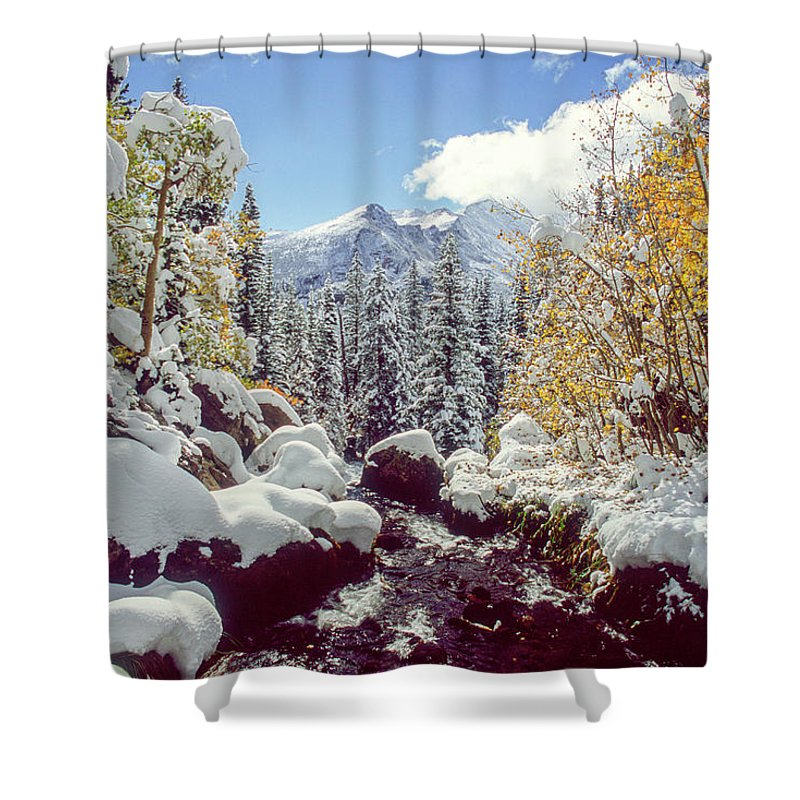 Landscape Shower Curtain featuring the photograph Tyndall Creek by Eric Glaser