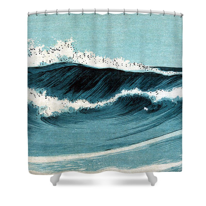 20th Century Shower Curtain Featuring The Photograph Uehara Ocean Waves By Granger