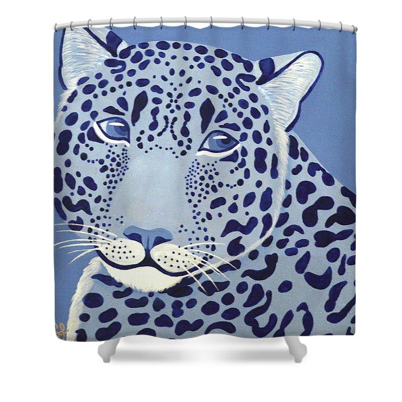 Ultramarine Jaguar Shower Curtain