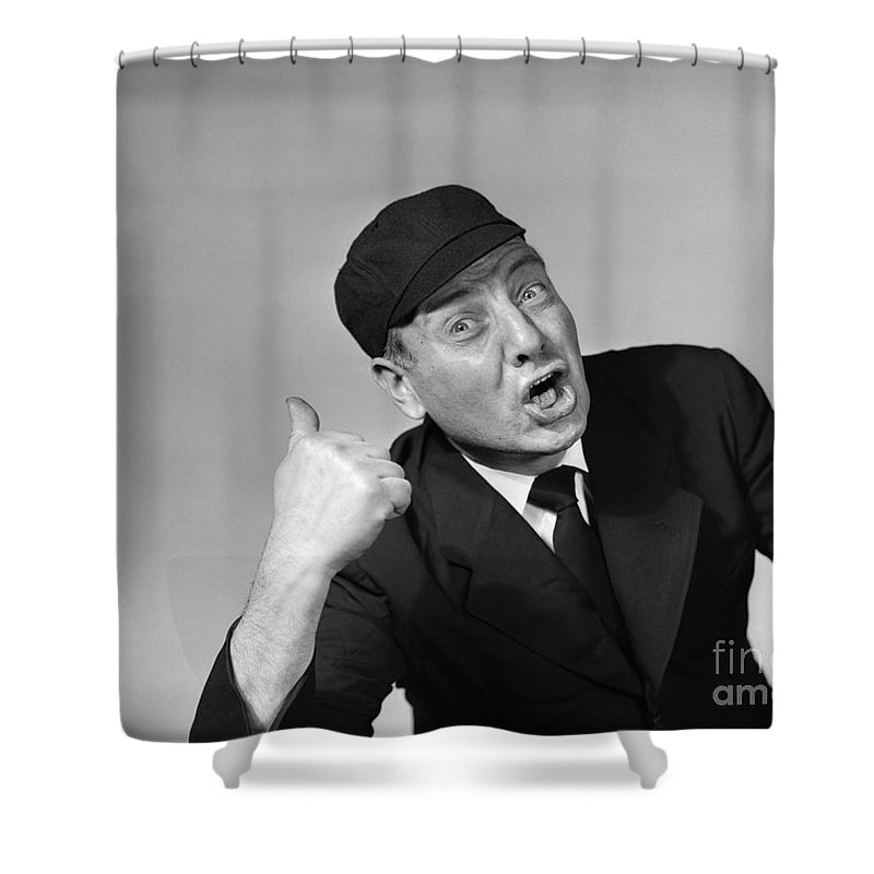 Umpire Making Out Signal 1950s Shower Curtain For Sale By Debrocke