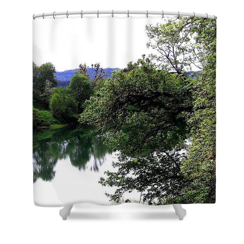 Umpqua River Shower Curtain featuring the photograph Umpqua River by Will Borden