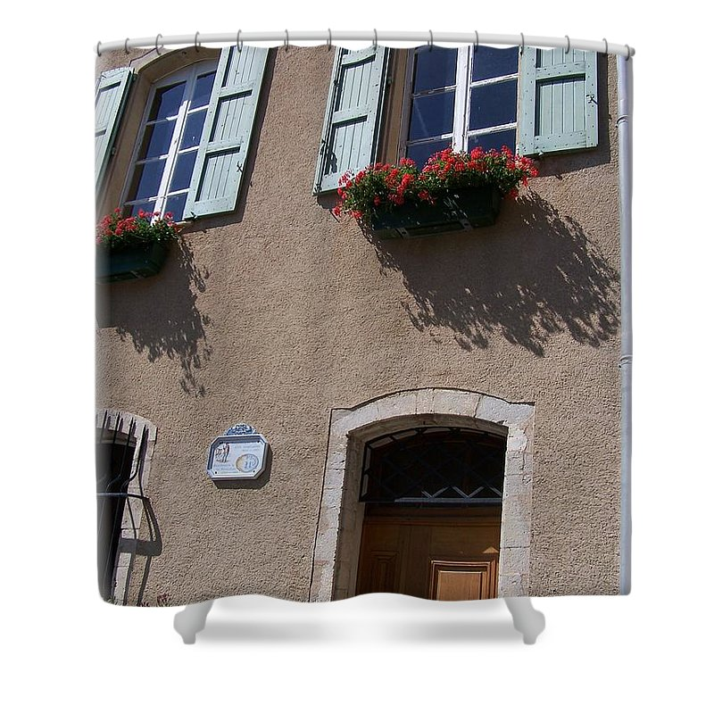 House Shower Curtain featuring the photograph Un Maison by Nadine Rippelmeyer