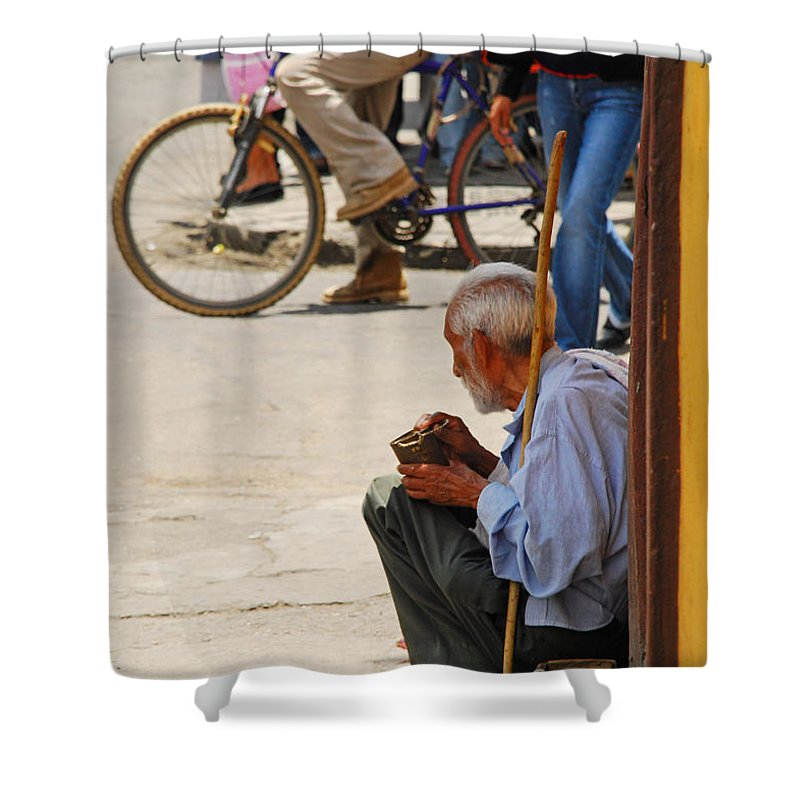 Beggar Shower Curtain featuring the photograph Un Peso Por Favor by Skip Hunt