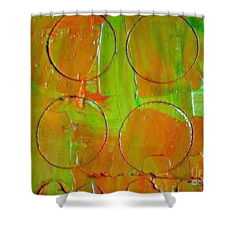 Unbroken Shower Curtain featuring the painting Unbroken by Dawn Hough Sebaugh
