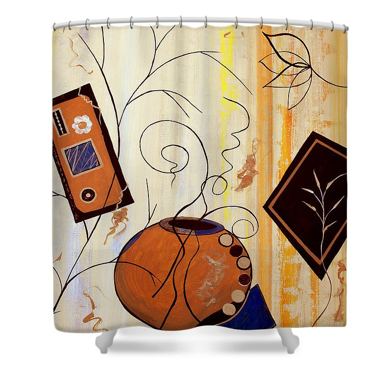 ruth Palmer Shower Curtain featuring the painting Unconstrained by Ruth Palmer