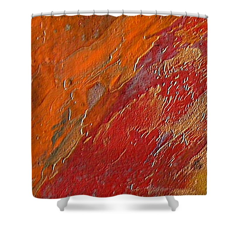 Encaustic Painting Shower Curtain featuring the painting Uncontrollable Passion by Dragica Micki Fortuna