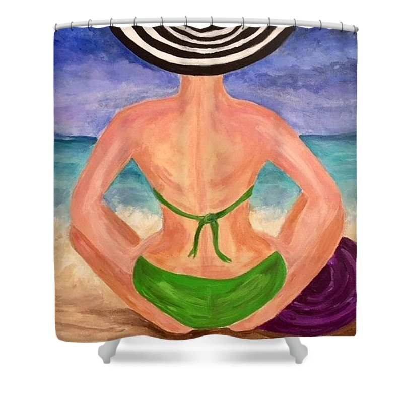 Contemporary Shower Curtain featuring the painting Undaunted by Pennie DesJardins
