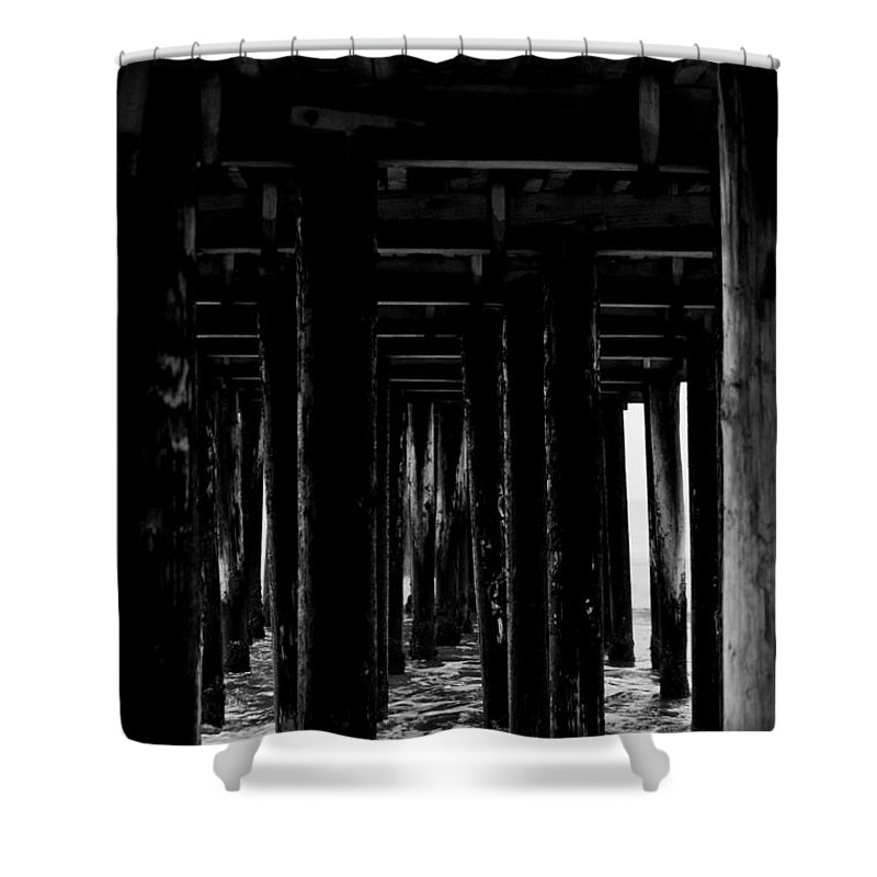 Portrait Shower Curtain featuring the photograph Under The Boardwalk by Shannon Nickerson