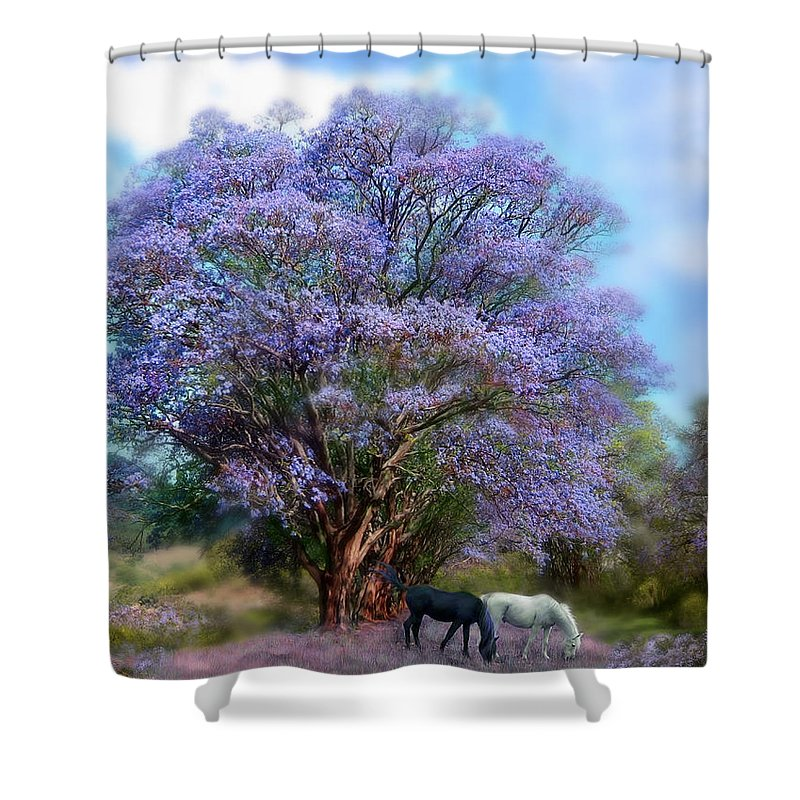 Beauty In Nature Mixed Media Shower Curtains