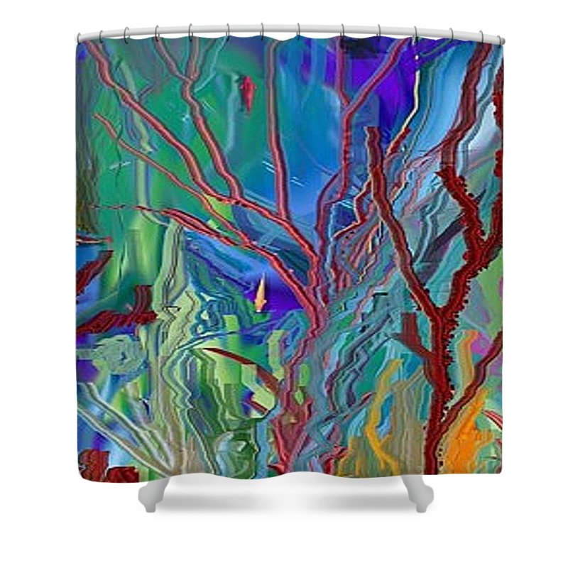 Sea-anenomies Shower Curtain featuring the digital art Under The Sea by Susan Oliver