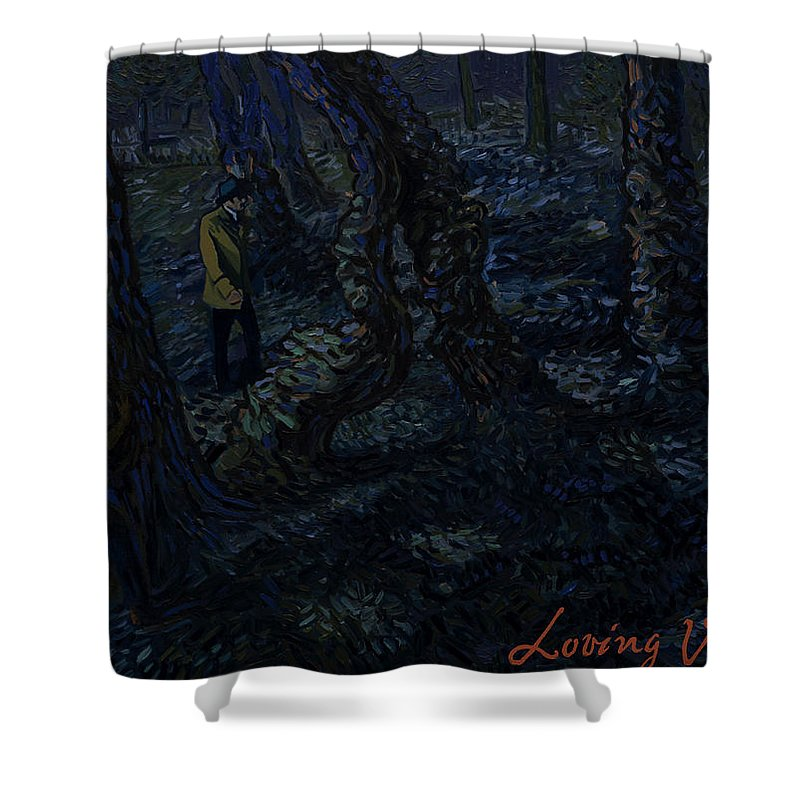 Shower Curtain featuring the painting Undergrowth by Yanis Alexakis