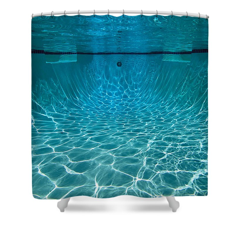 Underwater View In A Swimming Pool Shower Curtain for Sale by Tim Laman