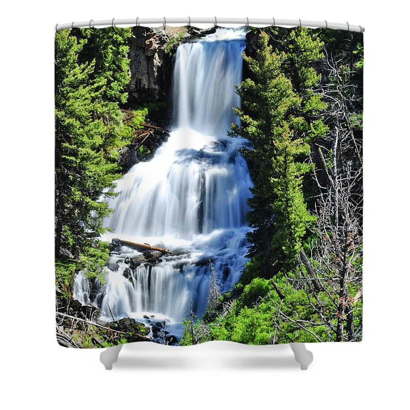 Undine Falls Shower Curtain featuring the photograph Undine Falls by Greg Norrell