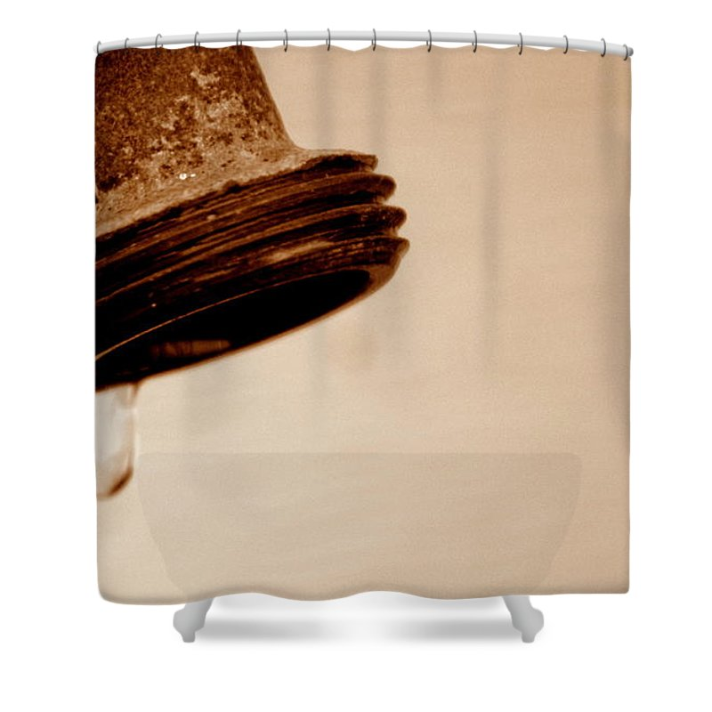 Faucet Shower Curtain featuring the photograph Unfiltered by Jennifer Diaz