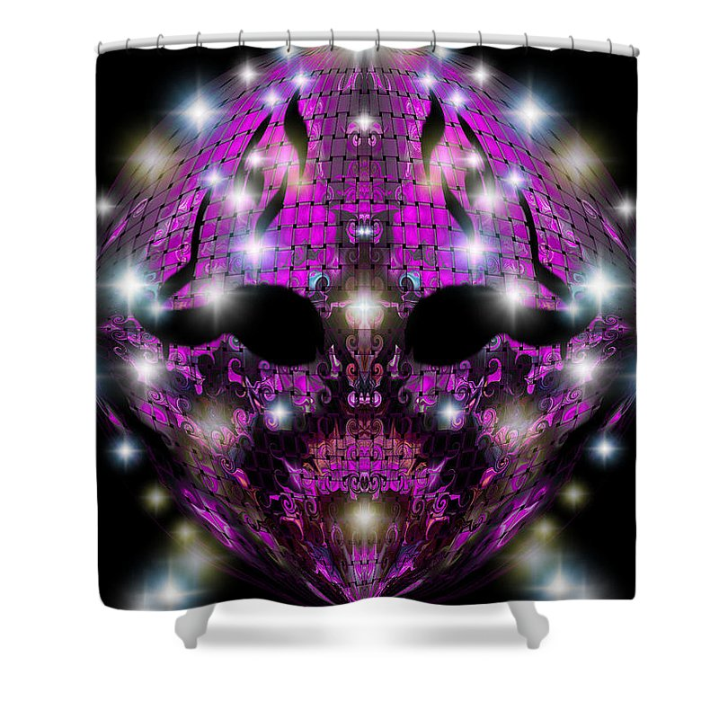 Shower Curtain featuring the digital art Unhappy by Subbora Jackson