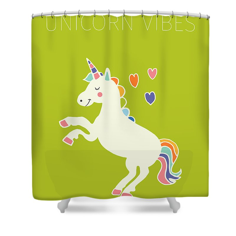 Unicorn Vibes Shower Curtain For Sale By Nicole Wilson