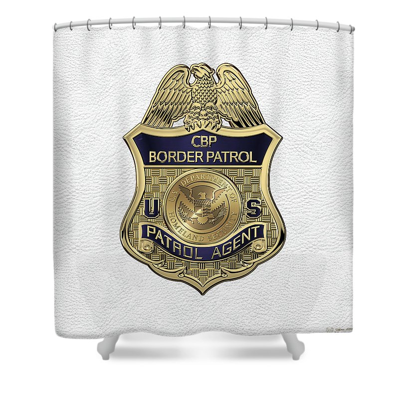 Law Enforcement Insignia Heraldry Collection By Serge Averbukh Shower Curtain Featuring The Digital