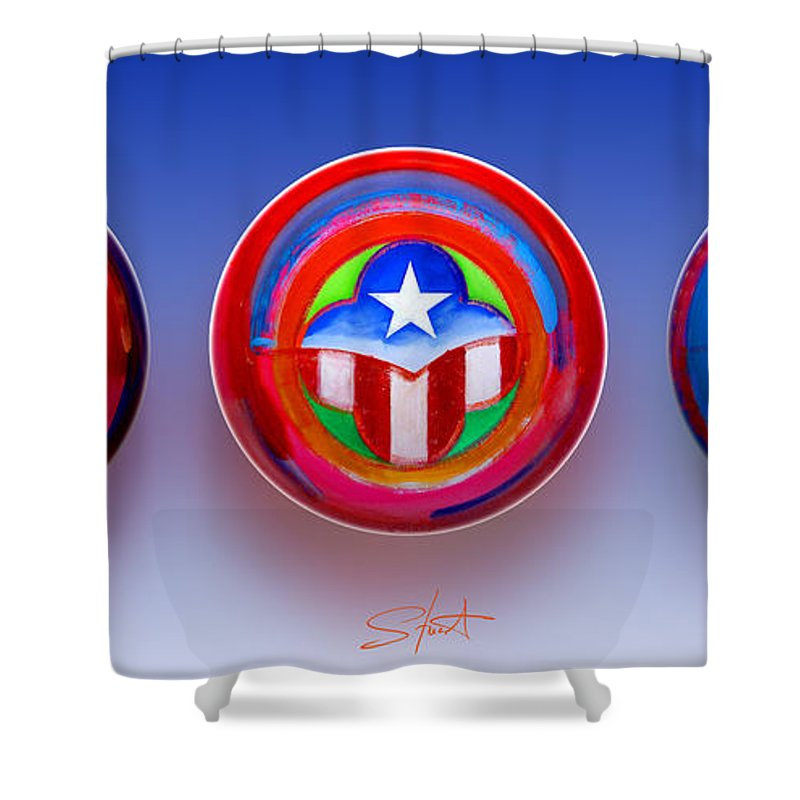Trinity Shower Curtain featuring the painting Unity In Diversity by Charles Stuart