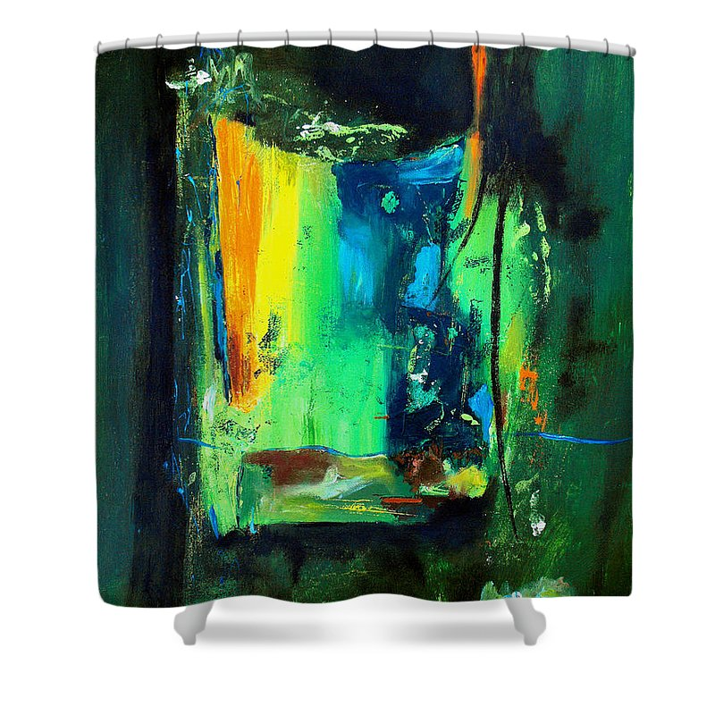 Abstract Shower Curtain featuring the painting Unity In The Body by Ruth Palmer