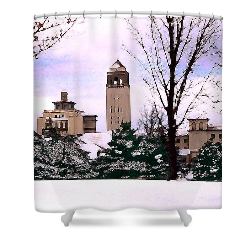 Landscape Shower Curtain featuring the photograph Unity Village by Steve Karol