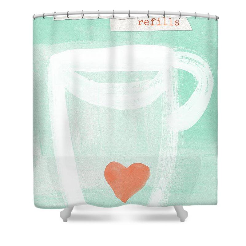 Tea Mixed Media Shower Curtains