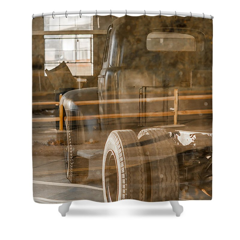Truck Shower Curtain featuring the photograph Unpreserved 10 by Darwin King