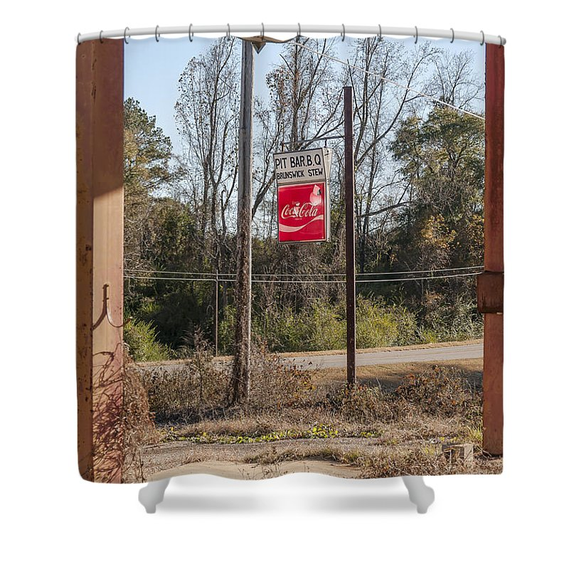 Sign Shower Curtain featuring the photograph Unpreserved 7 by Darwin King