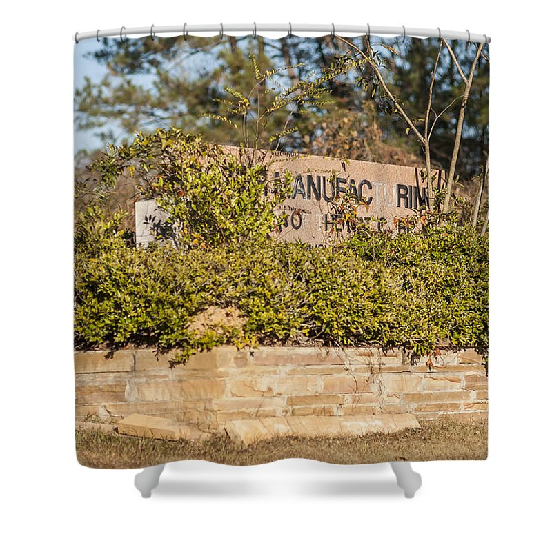 Sign Shower Curtain featuring the photograph Unpreserved 8 by Darwin King