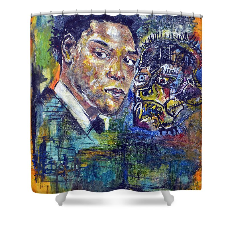 Basquiat Shower Curtain Featuring The Painting Unseen Jean Michel