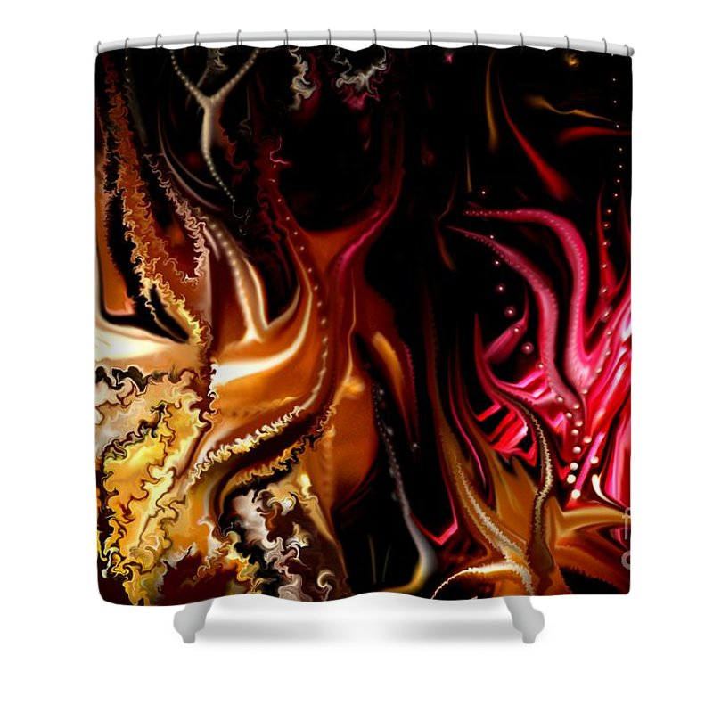 Abstract Shower Curtain featuring the digital art Until The End by David Lane