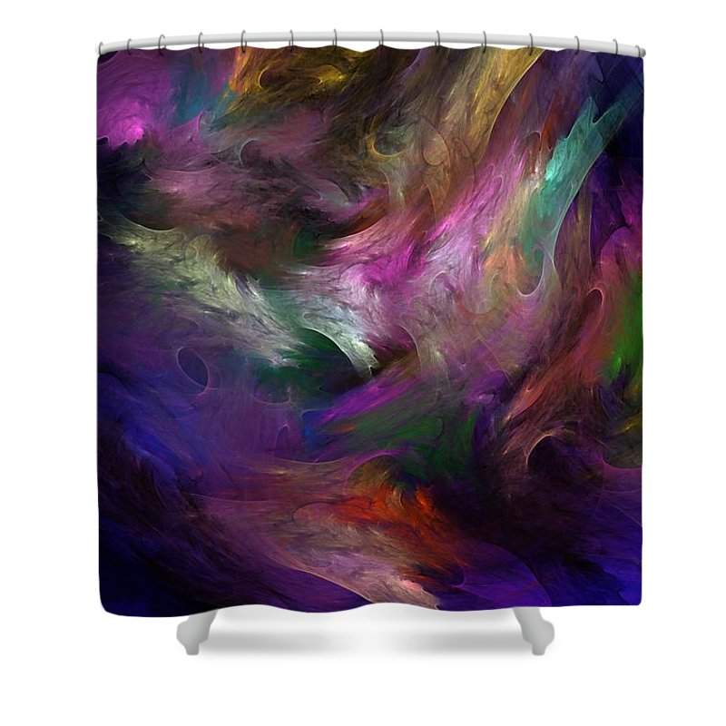 Fantasy Shower Curtain featuring the digital art Untitled 01-12-10 by David Lane