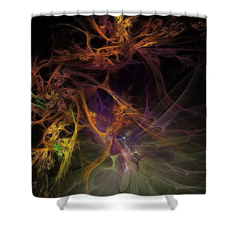 Digital Painting Shower Curtain featuring the digital art Untitled 01-20-10 by David Lane